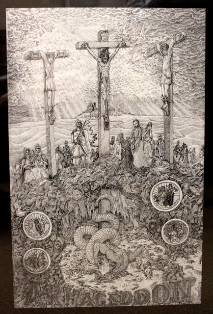 Robert Pencil Drawing of the Crucifixion