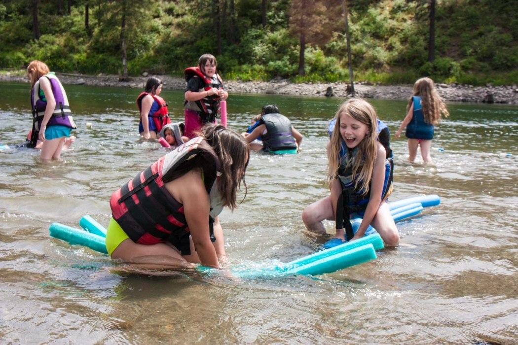 UGM Camp kids swimming