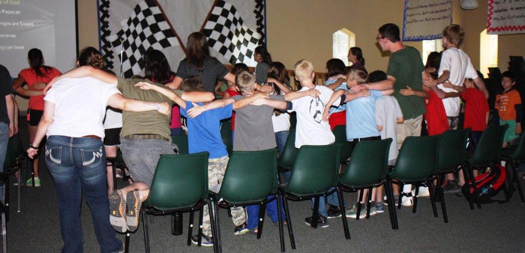 Kids singing at UGM Camp