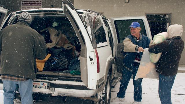 Winter coat donations arrive