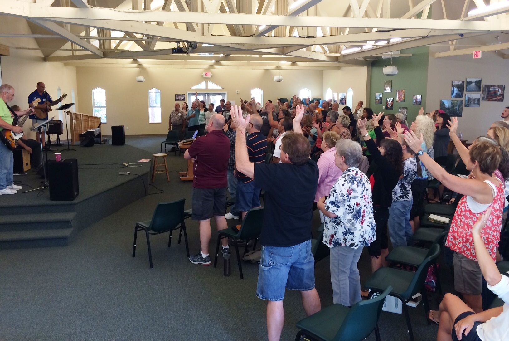 UGM staff worshipping together