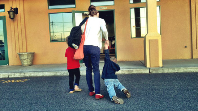 dragging the kids to church
