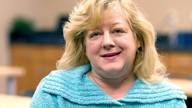Darlene smiling