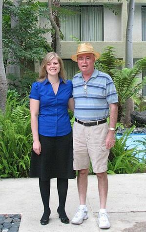 Lynn and dad in 2009.