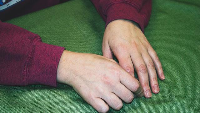 Kristi's hands