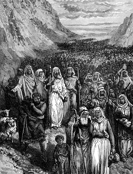 Israelites in wilderness