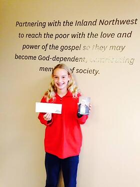 girl donates her birthday to the poor