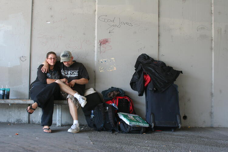 homeless and on the street
