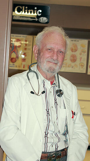 Dr. Wolfe in clinic