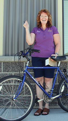 homeless resident receives bike