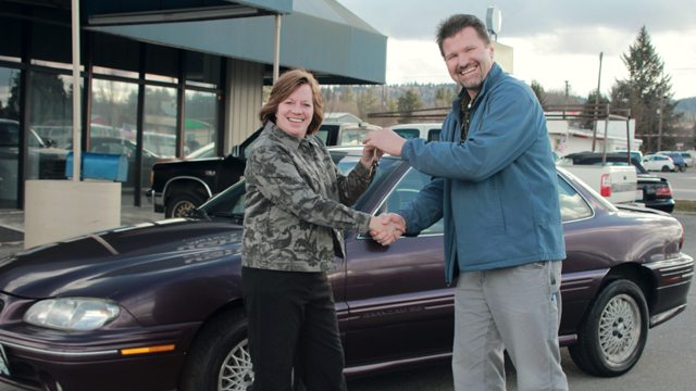 Shari receives her new car