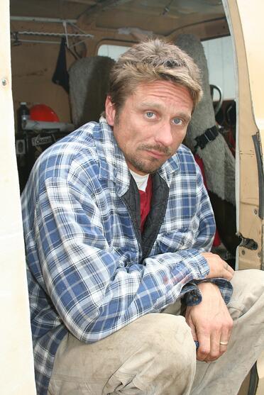 homeless man living in van