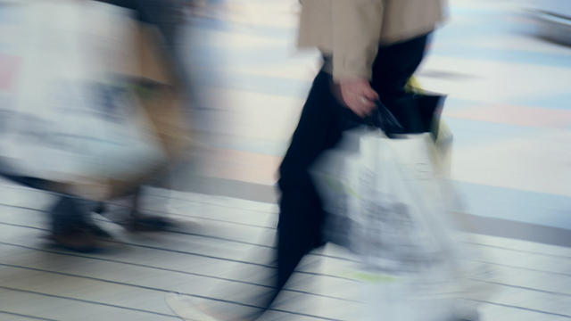 fast-paced shopping in a blur