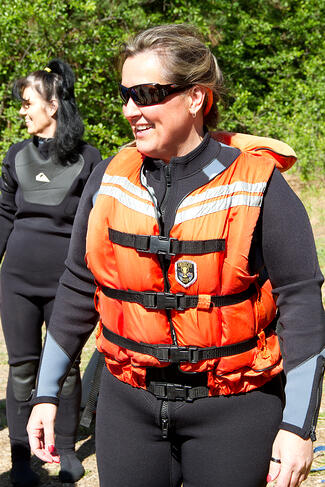 homeless woman rafting