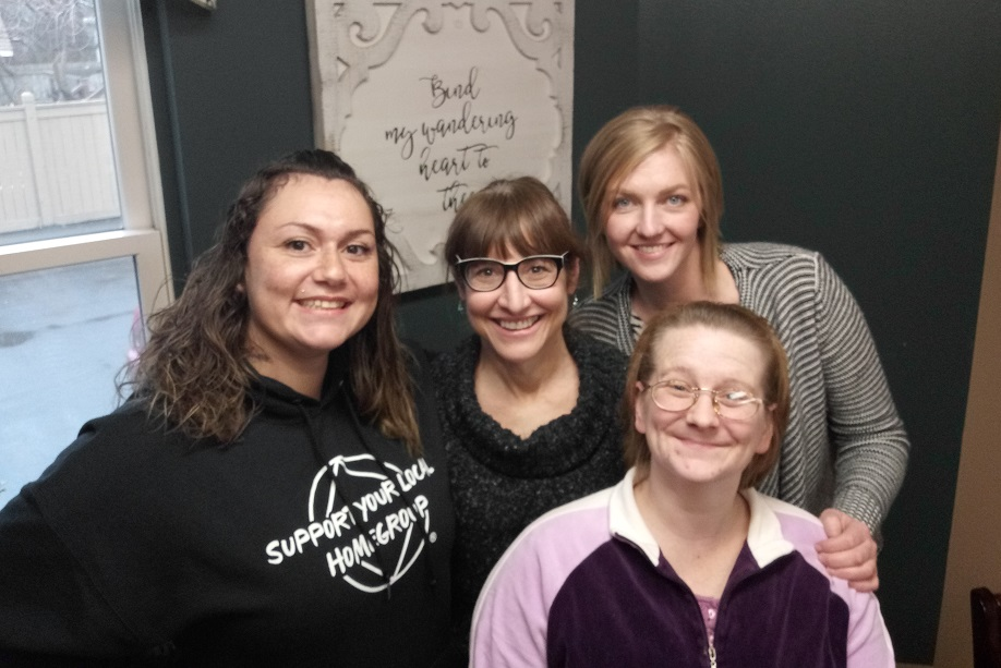 Jessica, Barb, Emily and Amanda are in Women's Recovery at Anna Ogden Hall and built their connection with Life Center church through their Rooted groups.