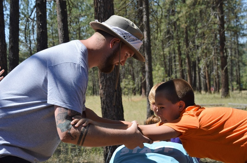 Trust-building exercises help friendships grow at UGM Camp.
