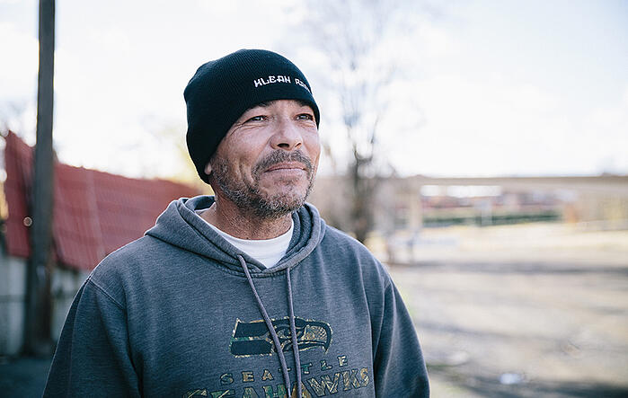 Rich says that ending up homeless with no place else to go caused him to come to UGM.