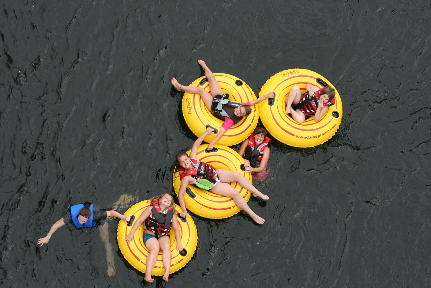 Tubing on the Spokane River is one of the favorite -- and scariest -- activities for the kids at UGM Camp.