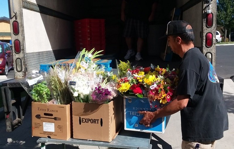 Trader Joe's, one of UGM's food partners, donates flowers in addition to food.