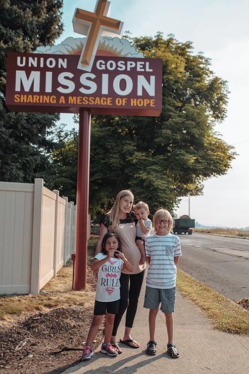 Family at Crisis Shelter