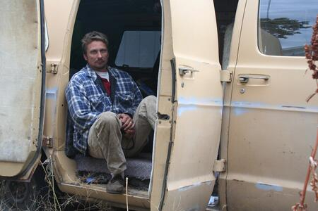 homeless addict - living in van