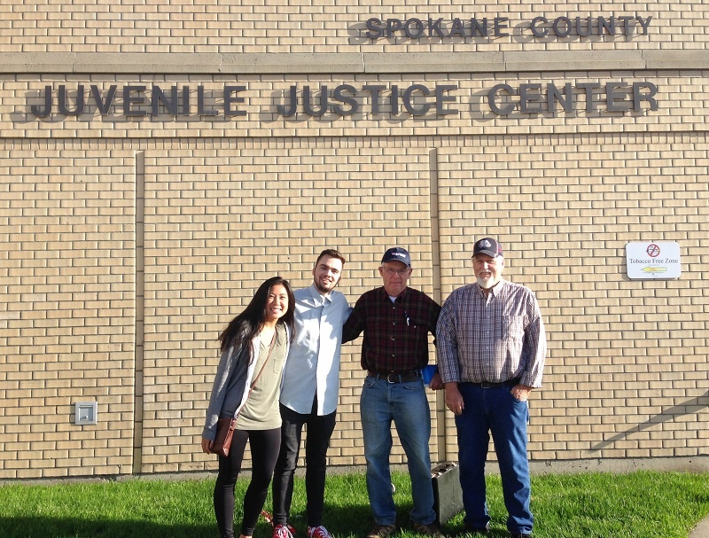 Lexi, Adam, Jerry and Don are a few of the people who join Christa in ministry to the kids in Spokane County Juvenile Detention.