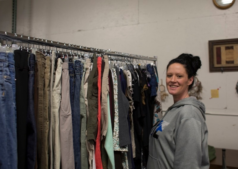 Lacey at the UGM Thrift Store