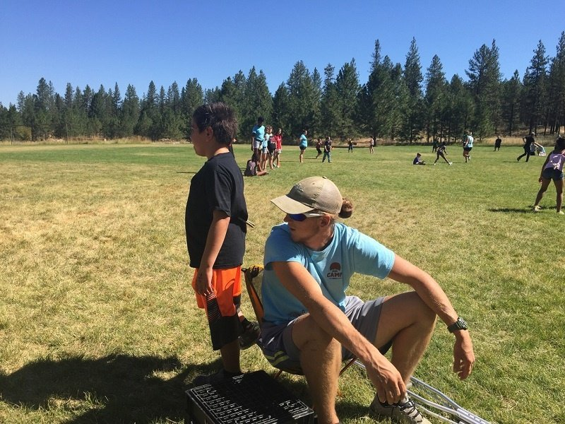 Leo watches out for Rehn at UGM Camp