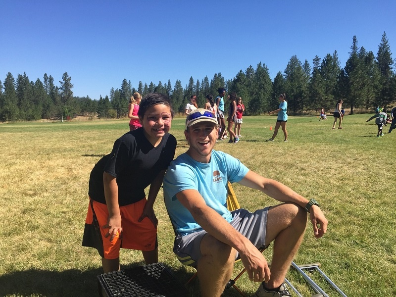 "Rehn and his new ""little brother"" Leo had a great time at UGM Camp"