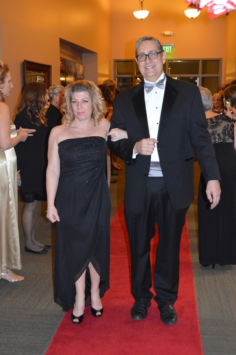 Matt helped escort residents up the red carpet at their special Valentine's Day dinner. His job at the Center is more than just feeding the hungry.