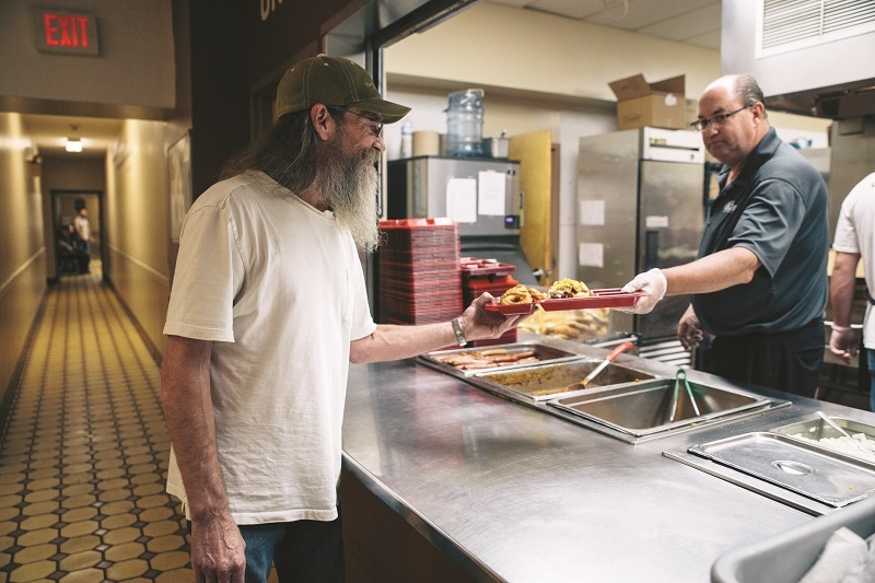 At UGM, Mike appreciates nutritious meals, clean and sober shelter, and the opportunity to give back to the place that helped him in his homelessness.
