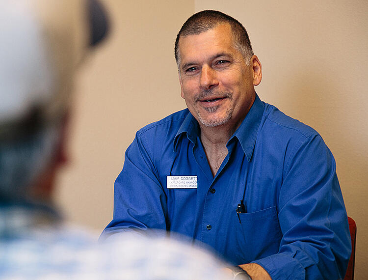 UGM Aftercare manager Mike Doggett has more than 21 years in recovery.