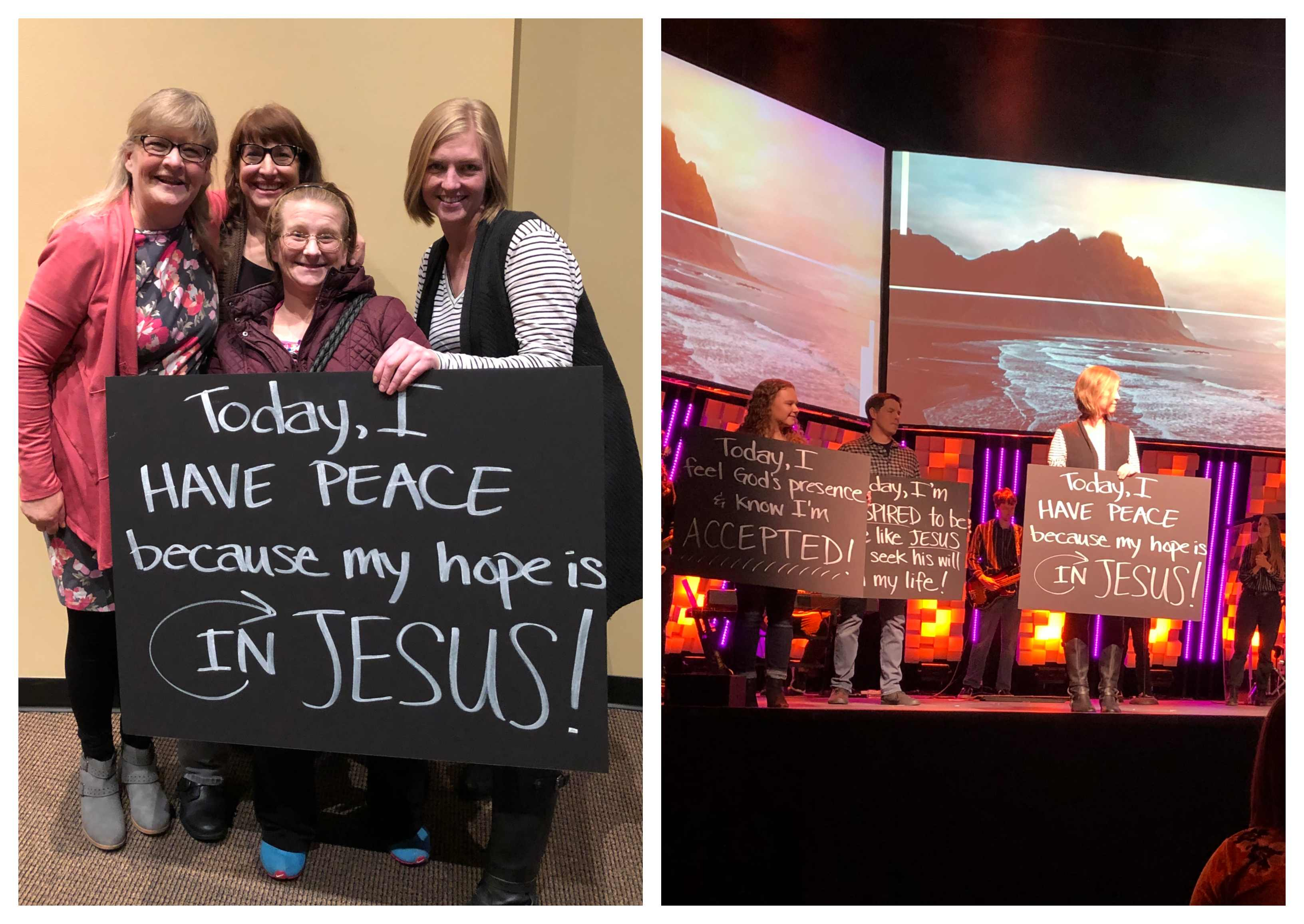 Barb, Amanda and Emily went through Rooted at Life Center church.