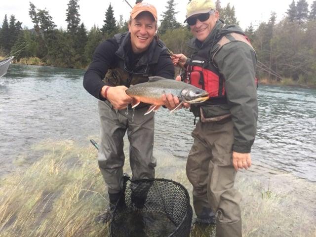 Sonny Westbrook and his Jonathan enjoy fishing together at the Kenai River.
