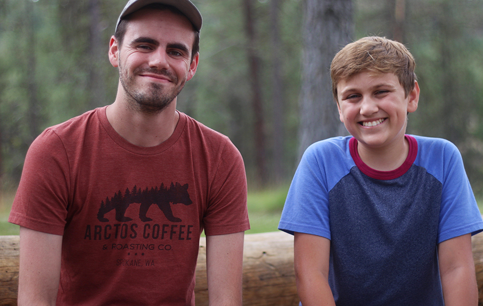 Trevor and Winston are on a cabin-leading team at UGM Camp. Winston used to come as a camper.