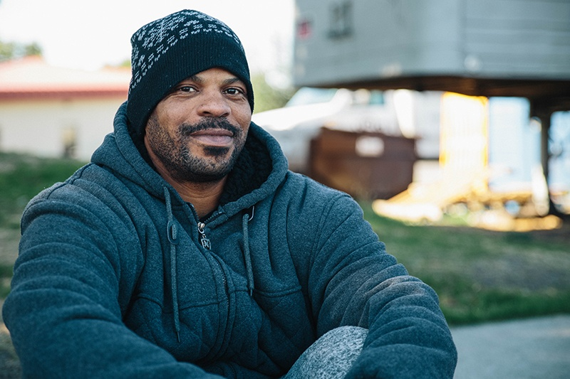 After 15 years of off-and-on homelessness, Marcus is getting help with managing his depression without using drugs.