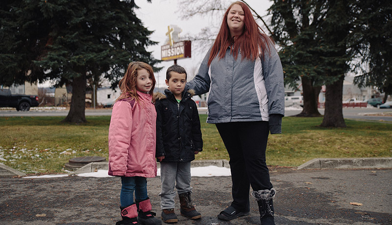 Women and children, many without a father in the picture, are the fastest-growing segment of the homeless population.