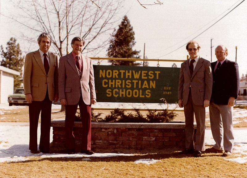 Sonny Westbrook (second from right) was superintendent of Northwest Christian Schools for seven years.