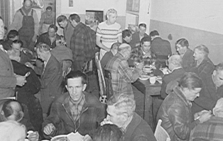 The Pacific Coast Mission held chapel services and served meals to homeless men.
