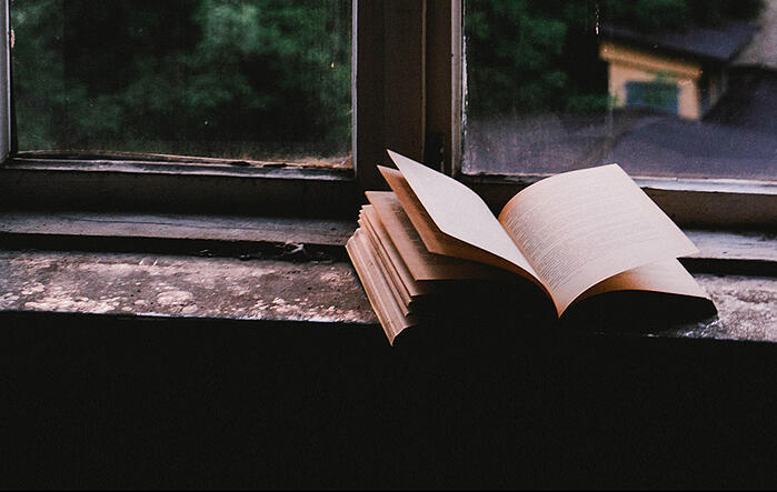 book on window