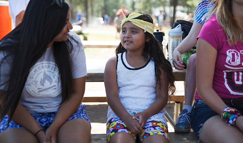 At UGM Camp, campers build relationships with counselors and friends.