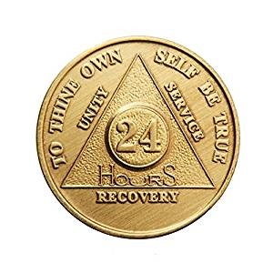 The 24 hour coin for people starting their recovery shows that all we have is today to choose recovery.