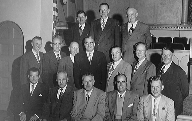 Albert Arend, center, gathered several Spokane businessmen and asked them to serve on the board of a new Union Gospel Mission.