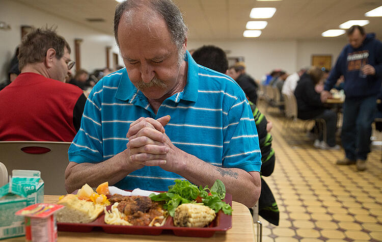 All meals served at UGM are primarily made up of donated food.