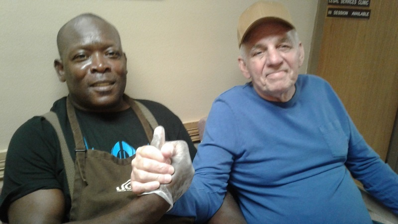 Alfred and Michael developed a friendship staying in a homeless shelter.