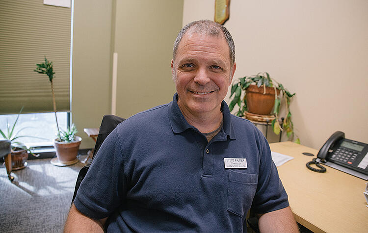 Working at UGM allows Steve Palmer to help people move out of their addictions and gives him freedom to tie in his love for the Lord.