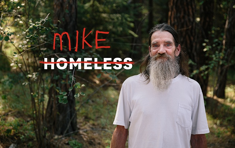 Mike was homeless, living in his car in the woods, before he came to the Union Gospel Mission.